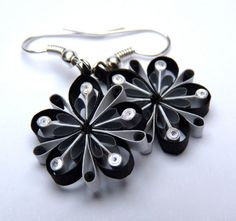 Earrings  Ecofriendly quilled paper Spring by VBPureDesigns, $14.50