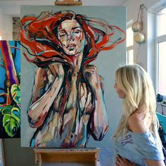 """Receive excellent pointers on """"abstract artists studios"""". They are on call for you on our site. L'art Du Portrait, Abstract Portrait, Tableau Pop Art, Art Et Illustration, Art Model, Erotic Art, Figurative Art, Painting Inspiration, Painting & Drawing"""