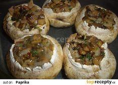 Zapečené žampiony recept - TopRecepty.cz Creative Food, Baked Potato, Camembert Cheese, Stuffed Mushrooms, Food And Drink, Cooking Recipes, Sweets, Baking, Ethnic Recipes