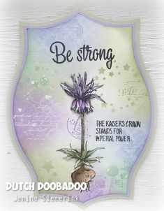 Jenine's Card Ideas: Be Strong