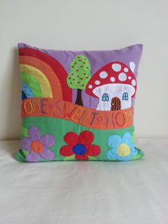 Check out this item in my Etsy shop https://www.etsy.com/au/listing/180581854/home-sweet-home-appliqued-and