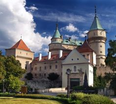 Famous Bojnice Castle. This romantic castle is located in Bojnice town, Slovakia. Many attractions can be seen there including Museum, Night Tours, Festivals, Weddings, and much more. This castle is also a popular location for filming fairy tale movies. It is definitely worth a visit.