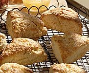 Small World Coffee's Ginger Scones with Cardamom, Recipe from The Martha Stewart Show, March 2007