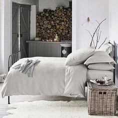 Soft Grey Winter bedroom
