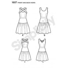 1607  Simple body shape.  Could use borders for crossover straps and  waist  band.  Might need to make gathered  skirt from waist band unless central  motif runs across  width ways.