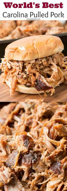 Hands down, world's best pulled pork, the easy secrets to make it and it's all done in the oven! ohsweetbasil.com #bestpulledporkrecipe