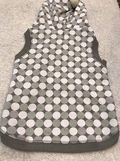Dog Hoodie Size M Puppy Fashion Pet Clothes Grey White Circle Dots Grey Trim  | eBay