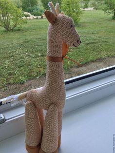 """Купить """"Жираф"""" текстильная игрушка - бежевый, жираф, текстильная игрушка, подарок, подарок девушке"""
