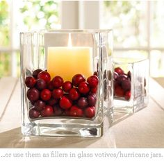 Thanksgiving Tablescape Basics centerpiece idea use white candle and red and white plates
