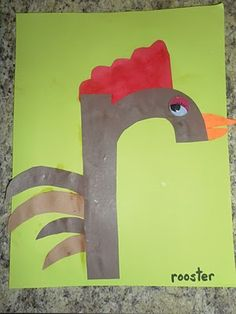 1000 images about letter r on pinterest roosters for Rooster craft for kindergarten