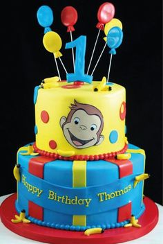 Curious George birthday cake Curious George birthday cake The post Curious George birthday cake appeared first on Paris Disneyland Pictures. Custom Birthday Cakes, Novelty Birthday Cakes, Birthday Themes For Boys, 1st Birthday Cakes, 1st Birthdays, First Birthday Parties, Birthday Celebration, Birthday Ideas, Birthday Pictures