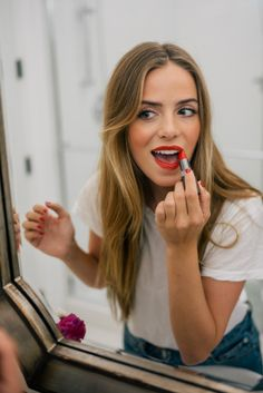 """Gal Meets Glam Updated Makeup Routine Post + Giveaway - Bobbi Brown Lipstick in """"Red"""""""
