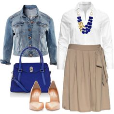 Neutrals & Blue - Plus Size