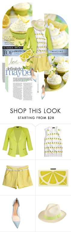 """""""Lemon cakes"""" by kseniz13 ❤ liked on Polyvore featuring City Chic, J.Crew, Alice + Olivia, Gianvito Rossi, cute, food, bright, lemon and Spring2017"""