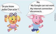 Funny Miss LA Sen and Pig pig