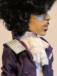 Another photo of a Prince doll that I found when searching for a suitable image of 'The Little Prince' for my Litmus Test board. This one is from the Purple Rain era.