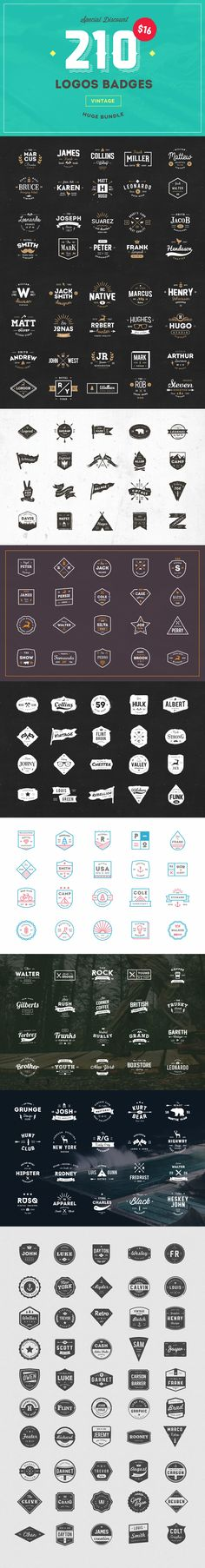 210 Vintage Logos Badges Bundle - Logos - 1
