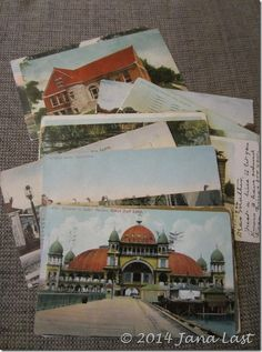 The Engle Family Postcard Adventure - Postcards sent to Sarah Amanda (Waterman) Engle, dated from the early 1900s