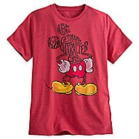 Mickey Mouse Text Art Tee for Men - ''I Love Mickey'' Collection