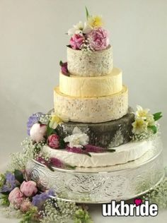 Cheese Wedding Cake! Kind of amazing. I'm pretty sure I love cheese more than I love cake.