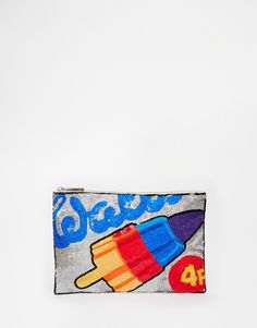 ASOS Walls Embellished Clutch Bag. --Oh good God, this bag is amazing! Need!