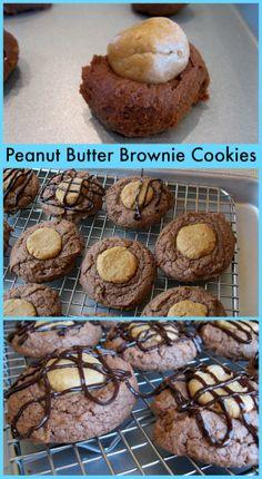 Peanut Butter Brownie Cookies #recipe