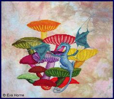 Mushroom Magic by Fire Wing Designs Cross Stitch Needles, Cross Stitch Patterns, Dragon Cross Stitch, Wings Design, Cross Stitch Supplies, Dragon Design, Cross Stitching, Needlepoint, Needlework