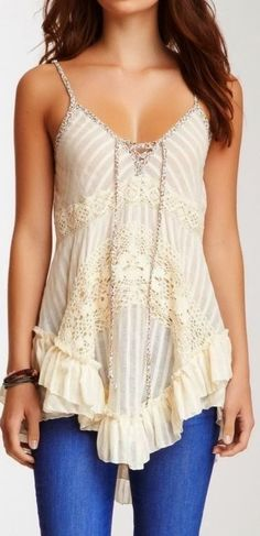 Lovely embellished half white blouse