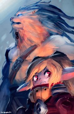Awesome Poppy and Rengar artwork, #LeagueOfLegends