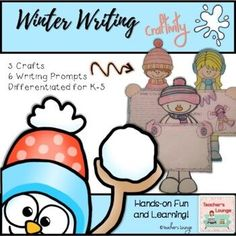Winter Writing Craft - 3 Crafts in 1 by Teacher's Lounge | TpT 4th Grade Classroom, Teacher Created Resources, Elementary Teacher, Fourth Grade, Second Grade, Creative Teaching, Teaching Ideas, Writing Prompts, Classroom Resources