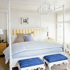 Idea #3: Add a Pop of Color - 10 Ways to Beautify Your Bedroom - Coastal Living