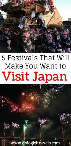 Japan has some incredible festivals that will make you want to go hop in a plane today! We will tell you about 5 Japanese festivals that show off Japan's unique culture. We also have an awesome video about the festivals in Japan to help you make up your mind. Make sure you save these Japanese festivals to your board so you can find them later. #japanesefestival #festivalinjapan #festivals