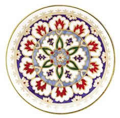 Kütahya Porcelain Handmade Plate No 15 - Jessica's Pins! Turkish Tiles, Turkish Art, Turkish Design, Plate Wall Decor, Plates On Wall, Hand Painted Plates, Decorative Plates, Ceramic Painting, Ceramic Art