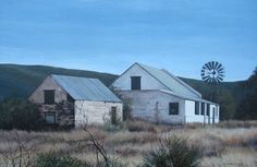 Beautiful Farm Homesteads in the Karoo. Beautiful Farm, Beautiful Places, Derelict House, African House, Best Barns, Old Farm Houses, Abandoned Buildings, Modern Buildings, Windmill