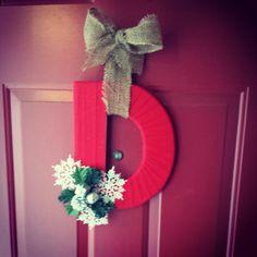 Christmas letter Wreath