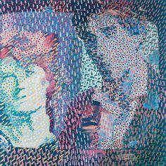 Wojciech Fangor - Man with Mike, 1979, olej, płótno, 112 x 112 cm