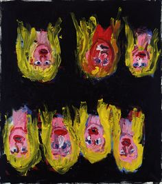 Sieben mal Paula, 1987/88, by Georg Baselitz