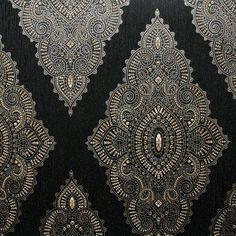 Jewel Black / Gold Wallpaper by Graham and Brown