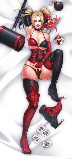 Harley Quinn Dakimakura by Karosu-Maker.deviantart.com on @DeviantArt - More at https://pinterest.com/supergirlsart/ #harleyquinn #dc #comics #dccomics #lingerie #sexy #hot #fanart