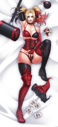 Harley Quinn Dakimakura by Karosu-Maker.deviantart.com on @DeviantArt - More at https://pinterest.com/supergirlsart/ #harleyquinn #dc #comics #dccomics #lingerie #sexy #hot #fanart