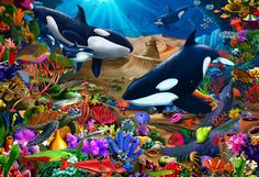 Wondrous Ocean Children's Jigsaw Puzzle | New Jigsaw Puzzles | Vermont Christmas Co. VT Holiday Gift Shop