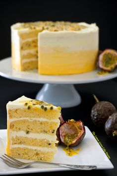 """Search Results for """"Passion fruit cake"""" – The Lemon Grove Cake Diaries Fancy Desserts, Just Desserts, Delicious Desserts, Dessert Aux Fruits, Dessert Drinks, Baking Recipes, Cake Recipes, Dessert Recipes, Cupcakes"""