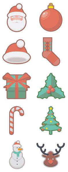 Christmas Holidays Free Icon Set (11 MB) | oxygenna.com