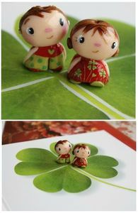 super cute people made of polymer clay