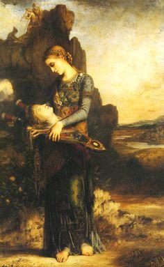 """""""Orpheus"""", Gustave Moreau, 1865; olio su legno, 155x99,5 cm; Museo d'Orsay, Parigi."""