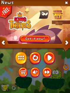 CUT the ROPE 2 | Action Phase Pause with Monetisation | UI, HUD, User Interface, Game Art, GUI, iOS, Apps, Games, Grahic Desgin, Puzzle Game, Brain Games, Zeptolab | www.girlvsgui.com