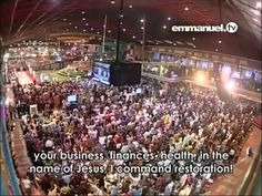 I COMMAND RESTORATION   Mass Prayer With TB Joshua Emmanuel Tv, Tb Joshua, Lord And Savior, Names Of Jesus, Christian Quotes, Jesus Christ, Finance, Restoration, Prayers