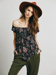 Free People Carrie's Off the Shoulder Top at Free People Clothing Boutique