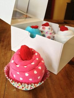 Cupcake Onesies and Socks New Baby/Baby Shower Gift - Baby Girl on Etsy, $25.00
