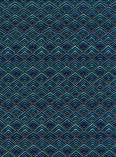 Aqua color plume designer print cotton fabric by tambocollection, $10.00